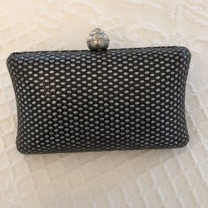 Handbags - Black silver evening clutch